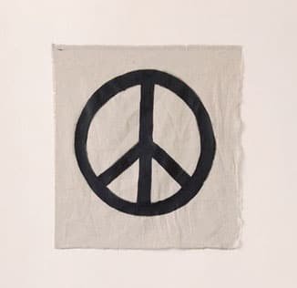 peace sign on fabric